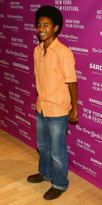 Marcus Carl Franklin at the New York Film Festival screening of