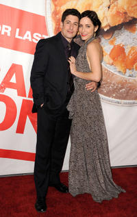 Jason Biggs and Jenny Mollen at the California premiere of