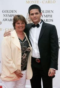 Marie Imbert and Edouard Collin at the 2007 Monte Carlo Television Festival closing ceremony.