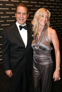 Rich Little and his wife Marie Marotta at the Bloomberg News Party.