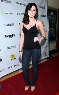 Najarra Townsend at the premiere of