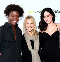 Matthew Thompson, Ellie Gerber and Najarra Townsend at the premiere of