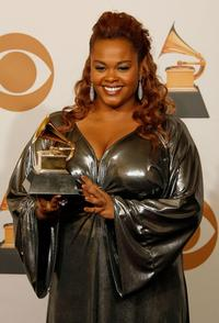 Jill Scott at the 50th Annual Grammy awards.