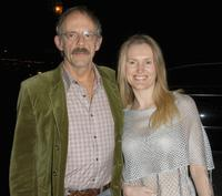 Christopher Lloyd and Jane at the Santa Barbara International Film Festival.