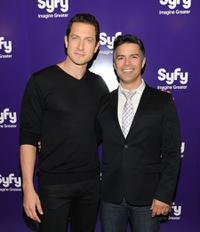 Sasha Roiz and Esai Morales at the 2010 Syfy Upfront party.