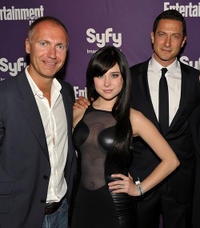 SyFy president Dave Howe, Alessandra Torresani and Sasha Roiz at the EW and SyFy party during Comic-Con 2010.