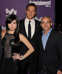 Alessandra Torresani, Sasha Roiz and Managing Editor of Entertainment Weekly Jess Cagleat the EW and SyFy party during Comic-Con 2010.