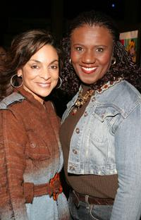 Jasmine Guy and Judge Mablean Ephriam at the premiere of