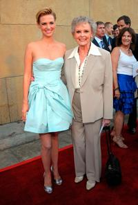 January Jones and June Lockhart at the premiere of