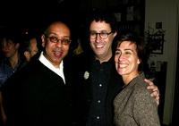 Director George C. Wolfe, Tony Kushner and Jeanine Tesori at the after party of the opening of