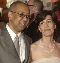Director George C. Wolfe and Jeanine Tesori at the opening of