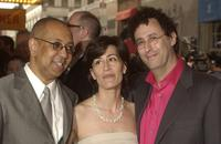 George Wolfe, Jeanine Tesori and Tony Kushner at the after party of the Opening night of