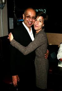 Director George C. Wolfe and Jeanine Tesori at the after party of the Opening play of