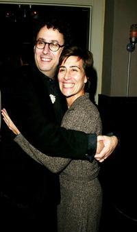 Tony Kushner and Jeanine Tesori at the after party of the Opening play of