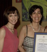 Susan Egan and Jeanine Tesori at the American Society of Composers, Authors and Publishers dinner celebration.