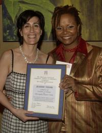 Jeanine Tesori and Toyna Pinkins at the American Society of Composers, Authors and Publishers dinner celebration.