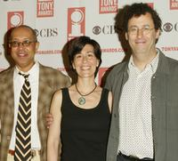 George C. Wolfe, Jeanine Tesori and Tony Kushner at the 2004 Tony Awards Nominees Press Reception.