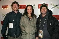 Mark Duplass, Kathryn Aselton and Jay Duplass at the Cinetic Media party during the 2005 Sundance Film Festival.