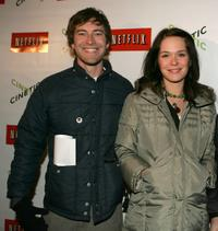 Mark Duplass and Kathryn Aselton at the Cinetic Media party during the 2005 Sundance Film Festival.