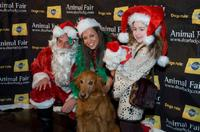Dave Price, Wendy Diamond and Rachel Covey at the Animal Fair Magazine's Second Annual Toys for dogs holiday party.