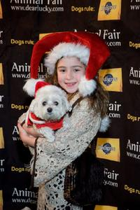 Rachel Covey at the Animal Fair Magazine's Second Annual Toys for dogs holiday party.