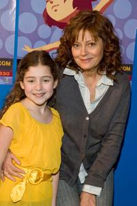 Rachel Covey and Susan Sarandon at the NYICFF director's workshop of Enchanted at Symphony Space.