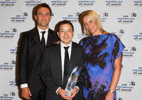 Leo Baker, Shaun Tan and Sophie Byrne at the 2010 Samsung Mobile AFI Industry Awards.