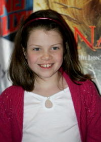 Georgie Henley at Planet Hollywood in N.Y.