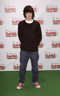Skandar Keynes at the Sony Ericsson Empire Film Awards.