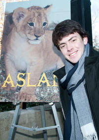 Skandar Keynes at the Smithsonian's National Zoo Lion Cub naming ceremony in Washington, DC.