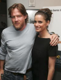 Donal Logue and Amanda Peet at the premiere of