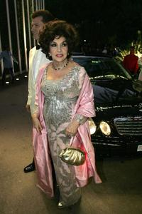 Gina Lollobrigida at the Monaco annual Red Cross Ball or Bal de la Croix-Rouge at the Monte-Carlo Sporting Club.