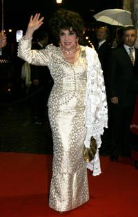 Gina Lollobrigida at the 50th Annual David Di Donatello Awards.