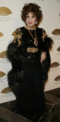 Gina Lollobrigida at the gala opening of the Mandarin Oriental.