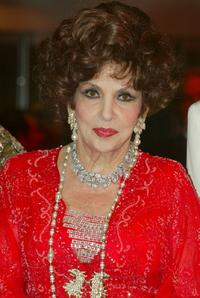 Gina Lollobrigida at the Monte Carlo Red Cross Ball 2004.