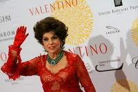 Gina Lollobrigida at the Valentino : 45th Anniversary Celebration Gala.