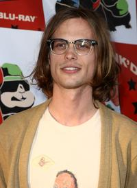 Matthew Gray Gubler at the DVD release party and charity concert event for