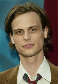 Matthew Gray Gubler at the CBS upfront.