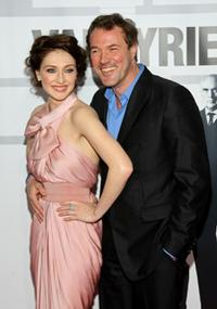 Carice van Houten and Sebastian Koch at the premiere of