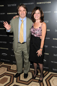 Barry Scheck and Pamela Gray at the New York screening of