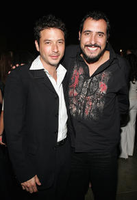 Raul Mendez and director Alejandro Lozano at the after party of the California premiere of