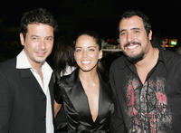 Raul Mendez, Ana Claudia Talancon and director Alejandro Lozano at the after party of the California premiere of