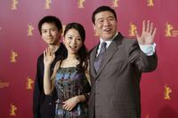 Lu Yulai, Zhang Jingchu and Feng Li at the photocall of