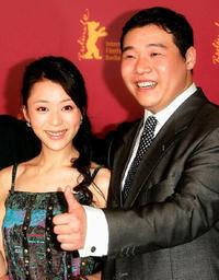 Zhang Jingchu and Feng Li at the photocall of