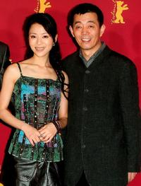 Zhang Jingchu and Gu Changwei at the photocall of