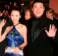 Zhang Jingchu and Feng Li at the closing ceremony of 55th annual Berlinale International Film Festival.