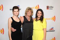 Jordan Todosey, Linda Schuyler and Annie Clark at the 23rd Annual GLAAD Media Awards in California.
