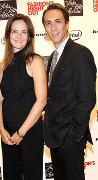 Enid Graham and Robert Sella at the Saks Fifth Avenue in New York.