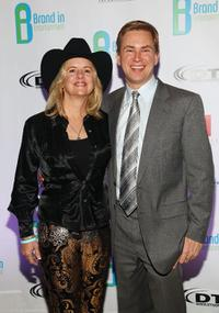 Heather Myles and Pat Kiernan at the Brand In Entertainment Integration Auction.