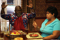 Mr. Brown (David Mann) and Cora Brown (Tamela Mann) in